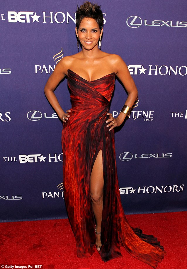 Breaking the rules: Berry's gownwas the same colour as the carpet at the Pantene-sponsored event at Warner Theatre