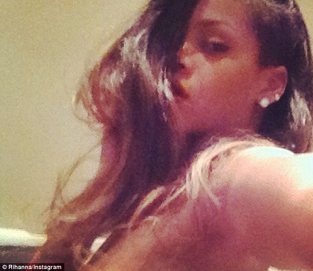Provocative: Rihanna posted a topless picture of herself on Instagram