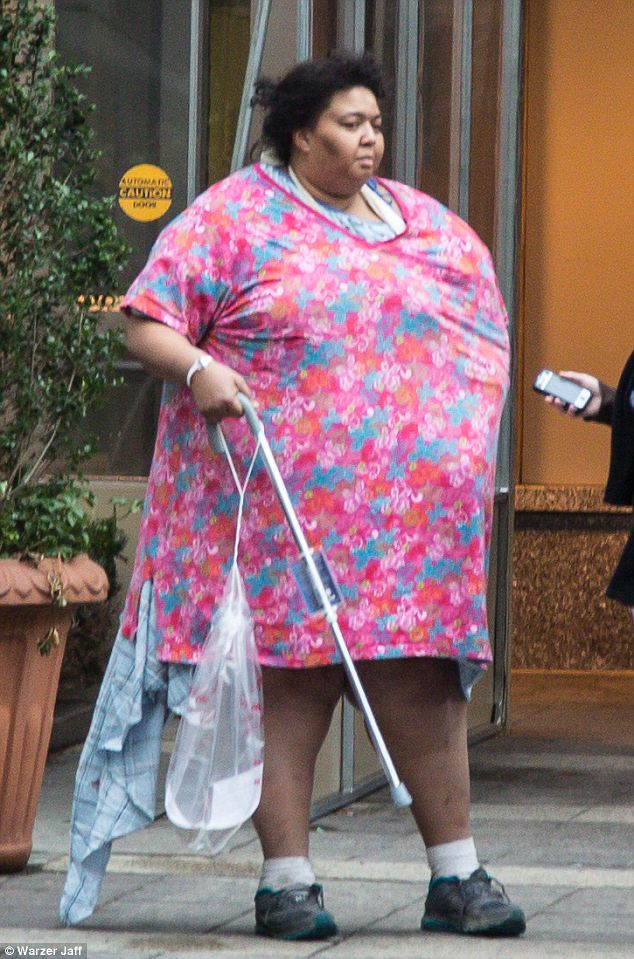'My size was the only thing that saved me.' Ulanda Williams, who weighs 400 pounds, fell through a New York sidewalk on Friday night