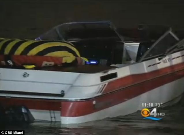 Reversing course: The couple turned back north in their 18-foot vessel after they encountered a cruise ship making a turn ahead of them in the waterway