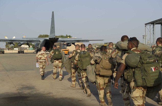 Concerns: The knowledge that the terrorists have the weapon has already changed the way the French (above) are carrying out their five-month-old offensive in Mali