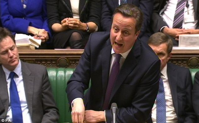 Worry: David Cameron said that people were concerned about the horse meat revelations at Prime Minister's Question Time today