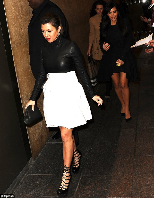 Lots to discuss: No doubt Kourtney has been passing on tips about motherhood to her little sister