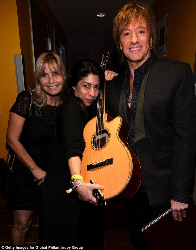 Backstage: Richie posed with guests