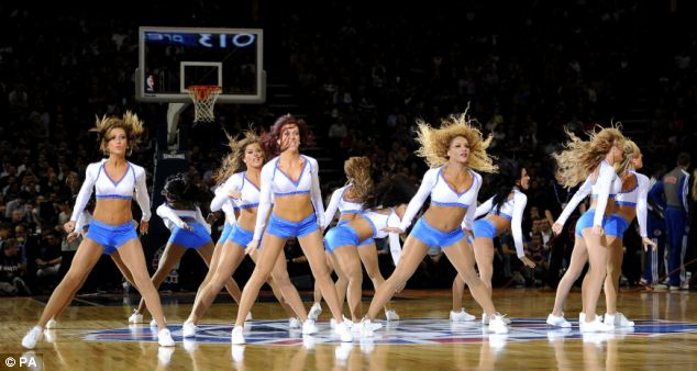 Pistons' cheerleaders prove the star pre-match entertainers