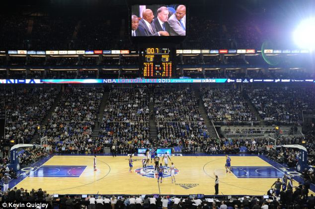 A full-house at the o2 arena watch the third NBA regular-season game in Europe