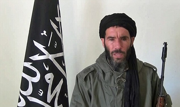 Horror: Thirty-five foreign hostages are feared dead after a helicopter air strike by Algerian forces on the BP gas plant seized by al-Qaeda-linked terrorists led by veteran jihadist Mokhtar Belmokhtar (above)