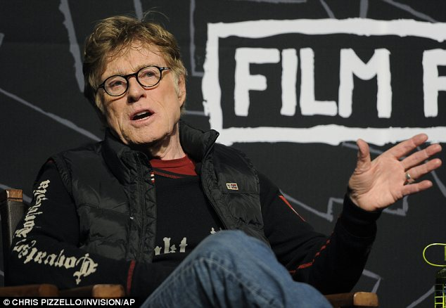Kicking things off: Robert Redford, who founded the festival, gave a powerful speech on Thursday