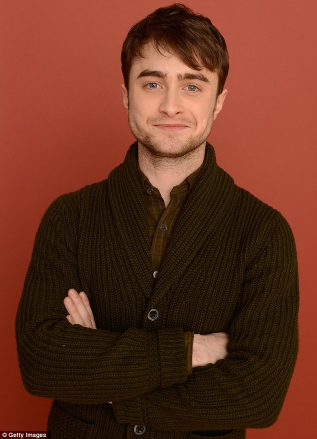 Going it alone: Daniel Radlciffe was there to promote Kill Your Darlings in which he portrays Allen Ginsberg