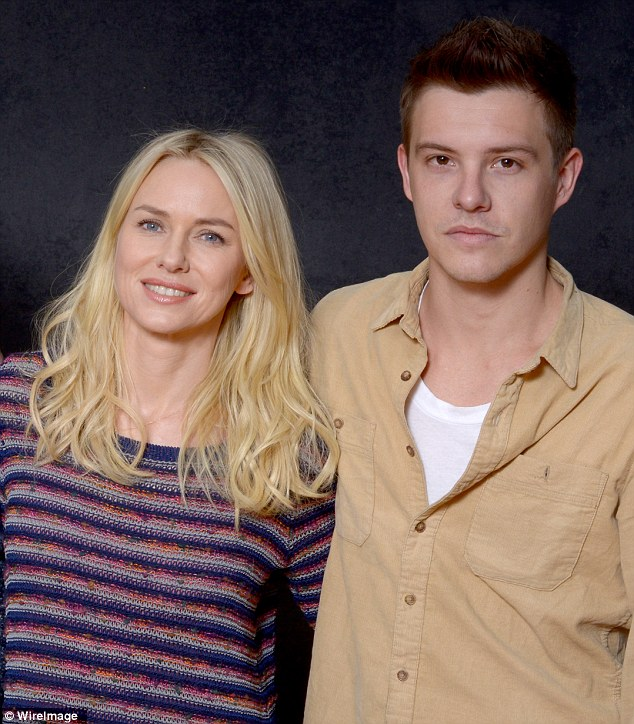 Onscreen mother-son: The 44-year-old thespian also posed with her 29-year-old co-star, Xavier Samuel, who plays her son in the flick