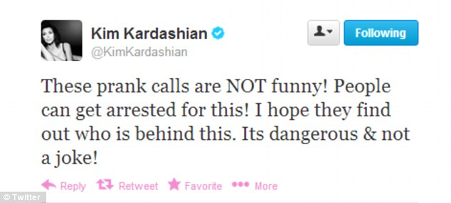 Advice: Lest we be confused about where Kim stands on the pranks, she Tweeted this to her followers
