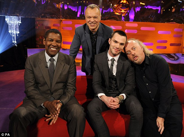 Good guests: Graham Norton spoke to Denzel, Nicholas and comedian Bill Bailey on his chat show