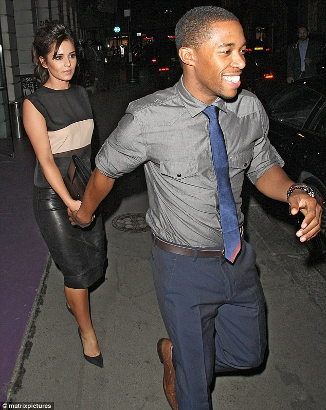 True love: Tre Holloway has asked Cheryl Cole's dad for permission to marry her