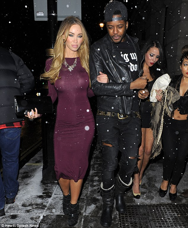 Work it: It was as if the pavement was her catwalk as Lauren Pope arrived at the venue