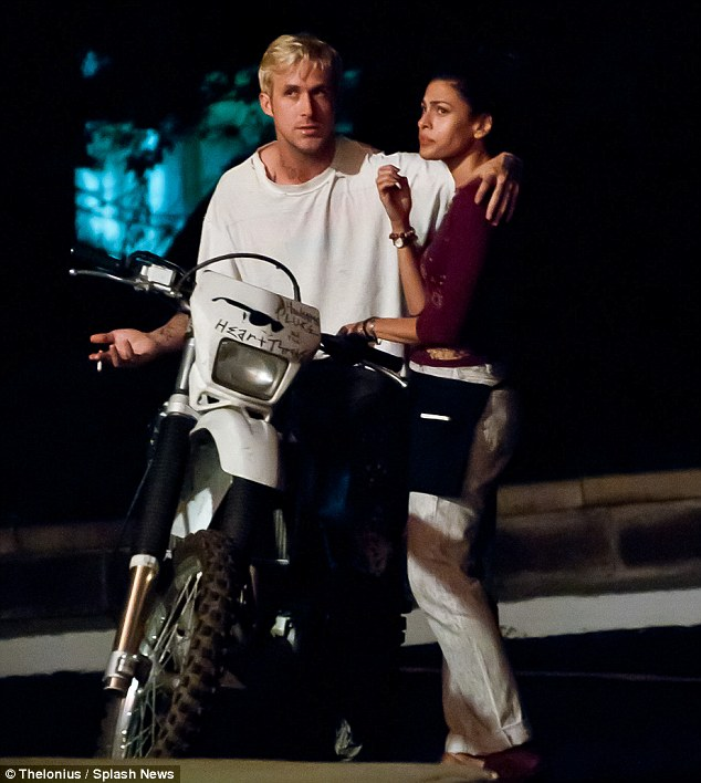 Where they fell in love: The couple co-star in The Place Beyond The Pines, which is slated for its release in the US on March 29, 2013
