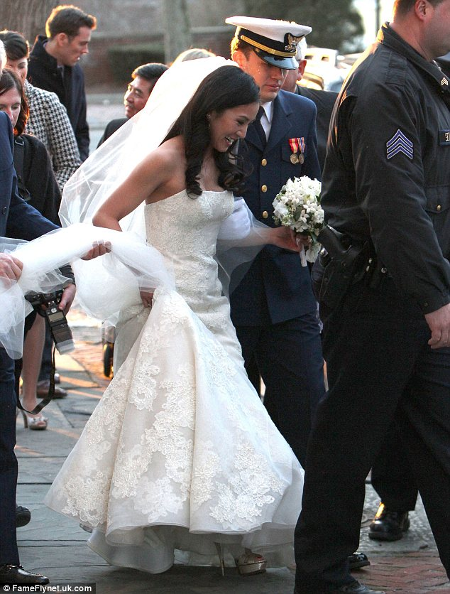 Newlyweds: Kwan reportedly met Pell in April 2011 and the couple were engaged to marry in September of 2012