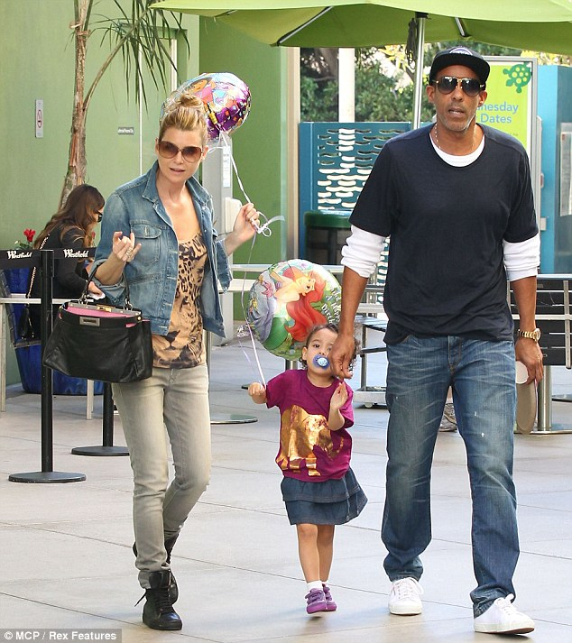 She's the star: Ellen's daughter Stella also got to visit Giggles N' Hugs, a popular children's eatery and play area