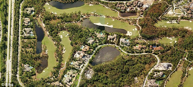High life: The exclusive gated community was founded in 1999 by legendary golfer Jack Nicklaus and his wife Barbara, and it built around a golf course