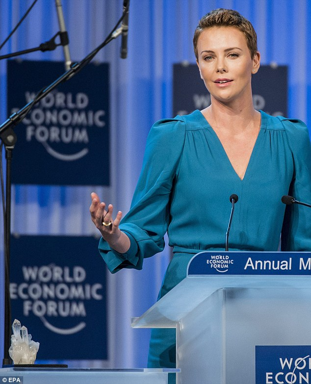 Speaking out: Charlize talked about efforts to eradicate HIV