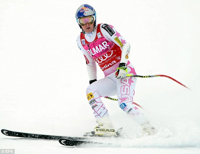 Back on the slopes: Ms Vonn recently left the circuit for nearly a month to recover from an intestinal illness