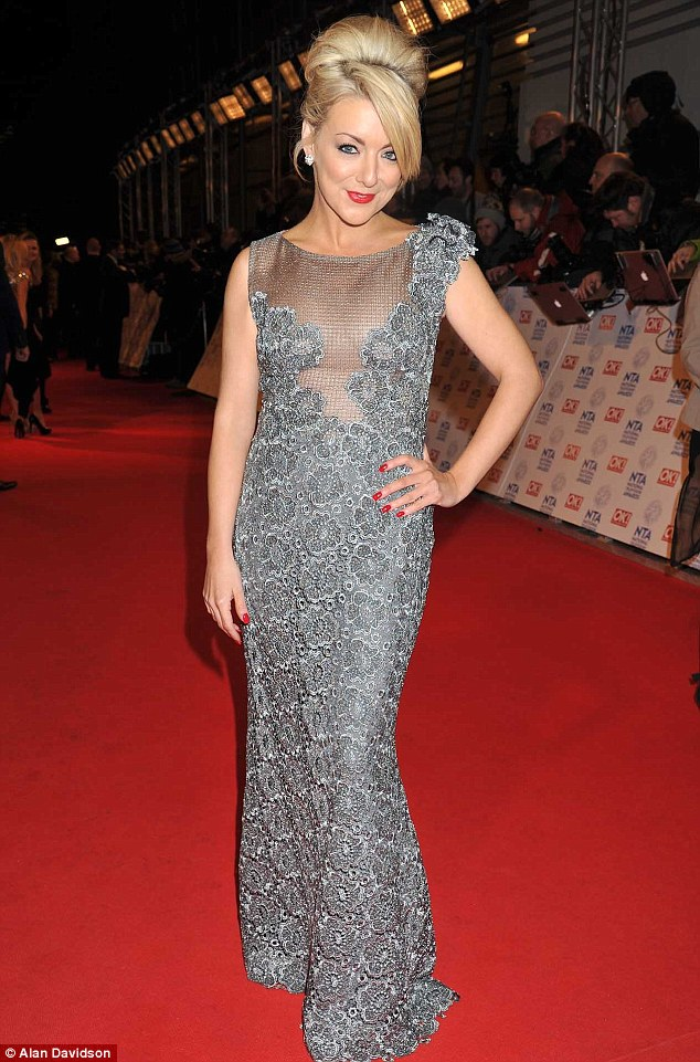 Rising star: Sheridan Smith, whose star is on the rise, looked demure but sultry in a grey gown