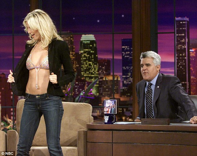 It's always nice to have her on: Back in 2003, Klum flashed her $8 million Victoria's Secret bra while on The Tonight Show