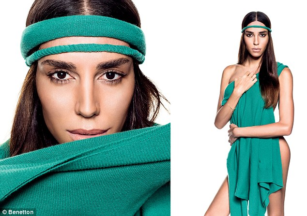 Model of the moment: Transsexual Brazilian model Lea T bares some flesh in Benetton's new spring/summer 13 campaign
