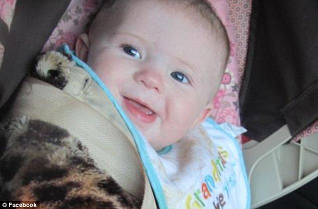 Brutally slain: As part of their move to revoke accused baby killer Ethen Harrison's bail, prosecutors in the case said Ariel Eluziario suffered 'subdural hemorrhage, retinal hemorrhaging, a blot clot in the brain and other signs of severe abuse'