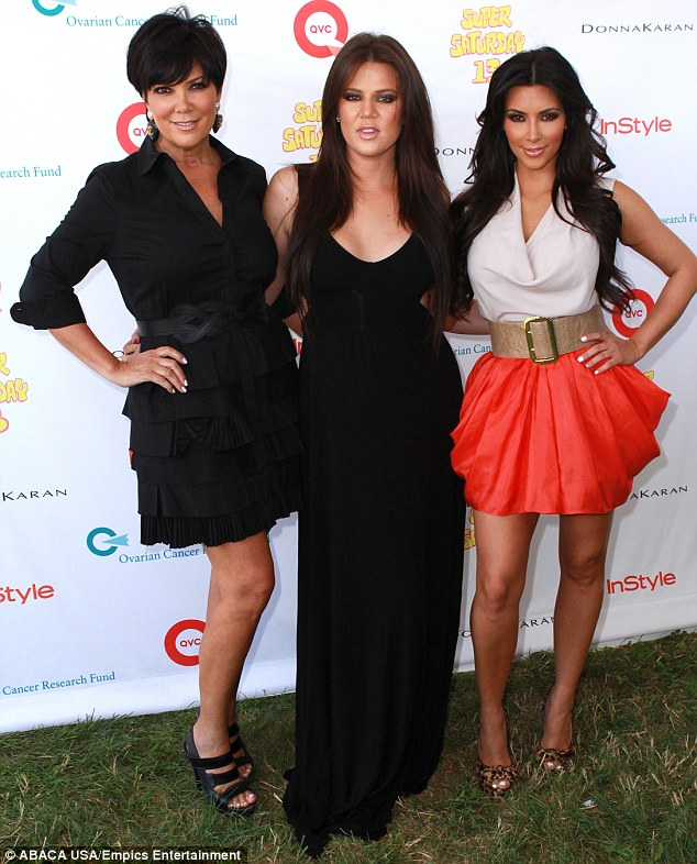 Standing together: Khloe and Kim Kardashian took aim at Ellen online after the widow released diary entries she claimed were penned by their father, in which he accuses their mother Kris Jenner, left of abusing Kim