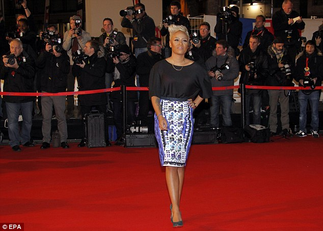 Ready: Emeli was just one of the musical guests in attendance as they found out the big winners of the night