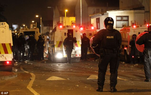 Mr Paterson was Norther Ireland Secretary at a time of angry clashes between police and loyalist rioters in Belfast, which left dozens of officers injured