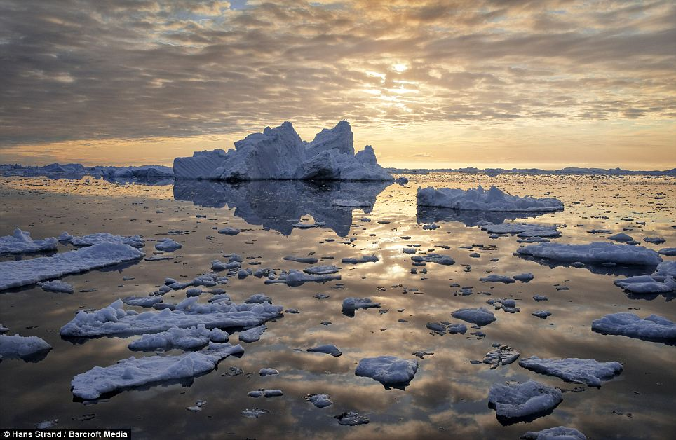 End of the earth: Icebergs split and float along the water in Disko Bay, Greenland, in the far north