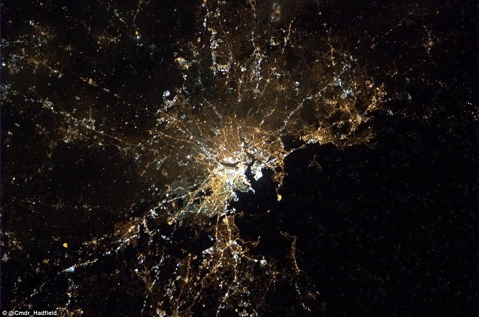 View Nyc Night Satellite