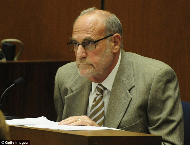 'Groped patient': Michael Jackson's former doctor Allan Metzger (pictured here giving evidence in the manslaughter trial of Conrad Murray) has been accused of sexually assaulting a woman during a check-up