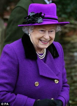 Queen Elizabeth II leaves St Peter and St Paul church in West Newton, on the royal Sandringham estate in Norfolk