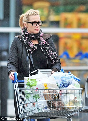 Kate Winslet Spotted Shopping At Tesco On Return From