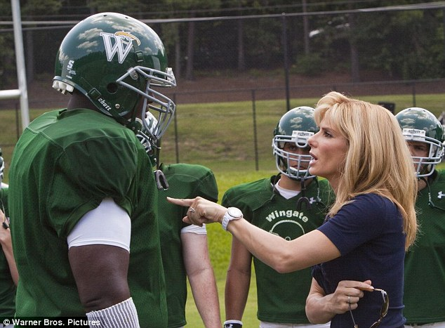 Pushy mom: As Leigh Anne Tuohy, Sandra Bullock played a fair, but strict mother