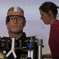Terminator robots are almost here  astonishingly lifelike 'bionic man': Science Museum unveils $1million robot with his own heart, blood and face
