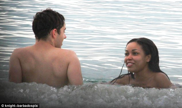 Bonding time: The couple's romantic break comes after Dionne visited St Lucia to remember her late godmother Amy Winehouse