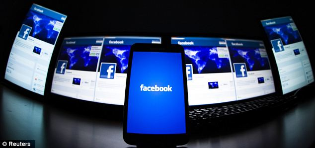 The loading screen of the Facebook mobile app: The social network is developing a new smartphone app to track the location of users in an effort to target them with localised adverts