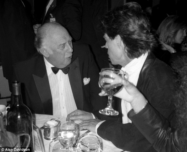 Former friends: Prince Rupert and Mick Jagger, pictured together at The Rock and Roll Hall of Fame at The Waldorf Astoria, New York in 1989, parted on good terms, something which seems to have changed