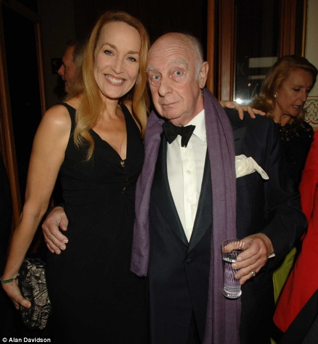 Hall of fame: Prince Rupert Lowenstein with Jerry Hall at a charity event in 2006