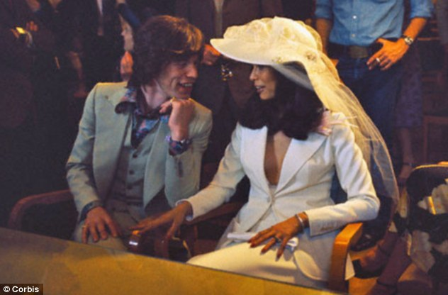 Personal details: The Prince speaks of the messy divorce proceedings between Mick and Bianca Jagger, pictured on their wedding day in 1971