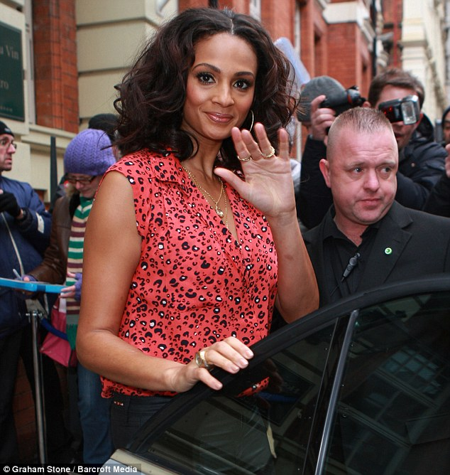 The final countdown: Alesha waved to her fans as she prepared to make her way to the BGT auditions at ICC Birmingham