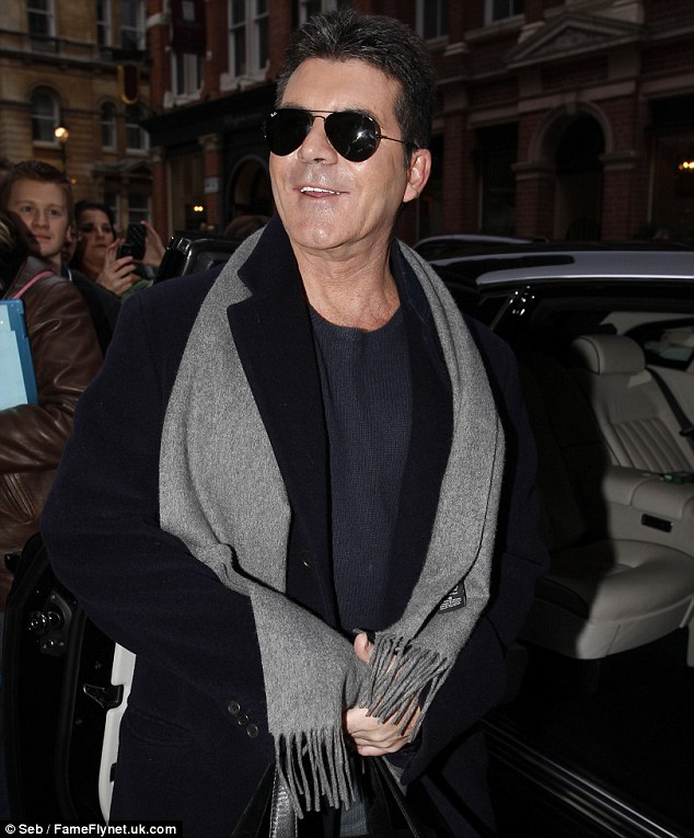 The boss! Simon seemed to be in great spirits as he prepared to head to the last stage of auditions
