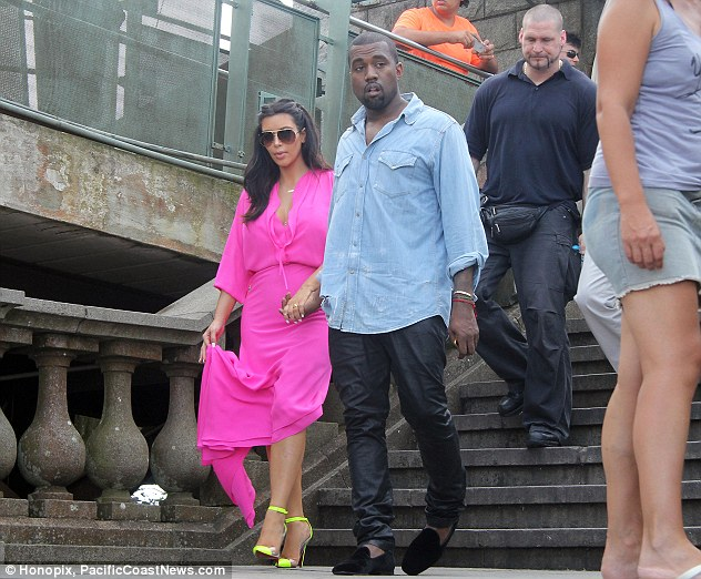 Traveling companions: The couple are trying to get a lot of trips in before Kim gives birth in July