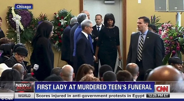 Funeral guest: Michelle Obama attended Hadiya Pendleton's funeral service in Chicago