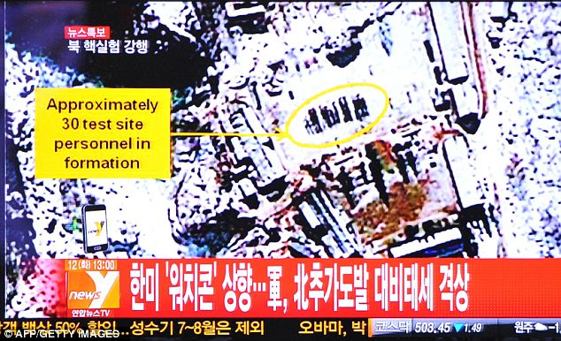 Spreading the news: South Korean news organizations were the first to report that a possible test had taken place