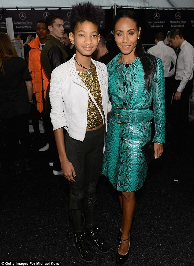 Mother and daughter duo: Jada has been joined by her 12-year-old daughter Willow for most of fashion week