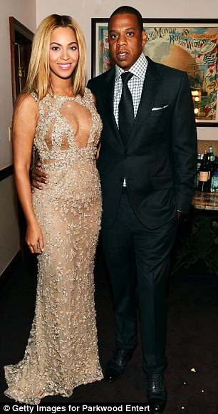 Her two dates: Oprah on the carpet and Jay-Z for the after-party, nobody can see that Bey doesn't have friends in high places